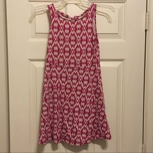 Old Navy Pink and White Tie Back Playdress